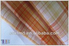 2014 new 100% yarn-dyed cotton check plaid rip stop fabric sweatshirts