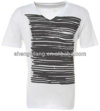 Customized Men's 0-neck t-shirt cotton/spandex / men stylish t-shirt T12779