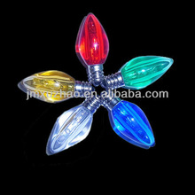 UL 120V LED C7 E12 Transparent Smooth Replacement Bulbs Red Yellow Blue Green White Color