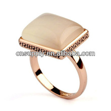 96526 fashion Vintage retro 18K Gold Plated Opal Rings retail