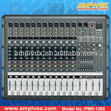 Professional 24bit DSP USB Sound Powered Mixer PMR-1260