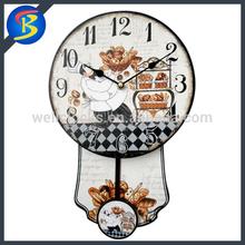 Promotion gift Antique Classy Wood Crafts Decorative Pendulum Wall Clocks