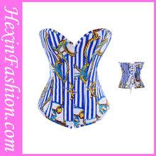 Wholesale blue sailor costume white sexy corset