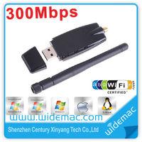 Realtek 8191 300M 802.11b/g/n Wireless LAN WiFi Adapter USB WiFi Network Lan Card with 2dbi Antenna support HD/TV (SL-1504N)