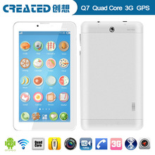 Cheapest!! 7 inch tablet pc ultra slim 8GB Android 4.0 Wifi 3G phone calling tablet pc with sim slot