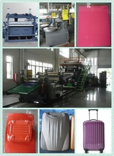High quality,high technology,100% PC luggage sheet extrusion machine