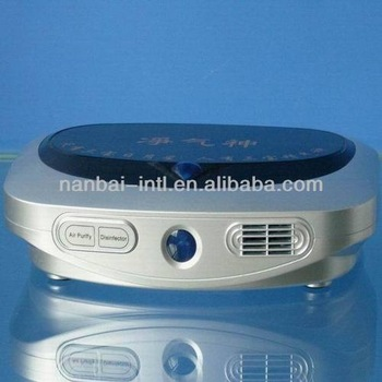 auto ozone air purifier with ionic and hepa uv sterilizer