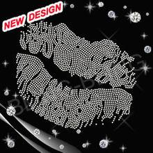 2012 Latest rhinestones lip design connectors bulk assorted rhinestones fashion