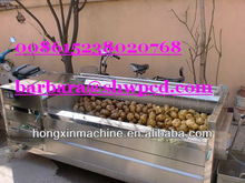 industrial brush washing machine for vegetable/carrots/fruit/cabbage