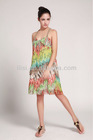 casual design & colorful lady dress hot sale this summer
