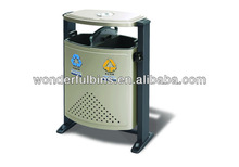 trash can D-01 two compartments outdoor waste bin