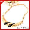 2013 wholesale Fashion jewelry zinc alloy necklace with black enamel