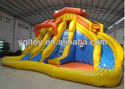 water slide inflatable with pool