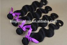 Wholesale human hair Brazilian hair weft silky straight wave