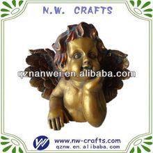 Resin gold finish angel statue