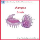 Plastic hair washing scalp brush