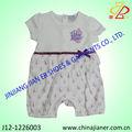 Bordado bebê recém-nascido romper as meninas, bebês sleepsuit, roupa do bebê de porcelana
