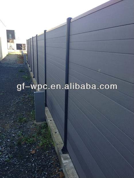 Ferm composite bois cl ture et rail cl tures treillis et portails id du pro - Palissade composite pas cher ...