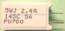 台湾メーカーの高品質のサーモ傷複合ヒューズ線のセメント抵抗器