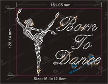 rhinestone transfer iron on motifs born to dance
