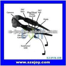 New EJ-DVR-32B mini hd Sunglasses mp3 player