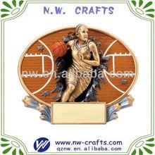High quality resin basketball plaque wall decor