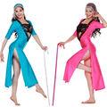 India sexy danza del vientre con vestido de lentejuelas o complementos para la cabeza y la correa del sujetador y vestido largo 3 pcs( qc2081)