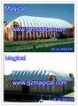 Inflable gigante de tenis al aire libre domo del deporte,inflable tenis tienda de la bóveda, cúpulainflable