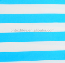 T/C 65/35 45*45 110*76 Fabric polyester cotton blue and white stripe