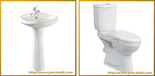 chaozhou chaoan ceramic two piece western toilet manufacturer