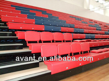 basketball,badminton,volleyball multisports retractable seating system,telescopic seat system for indoor multifunctional use