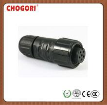 2+4p Standard waterproof connector,chogori high quality watertight connector,high current connector
