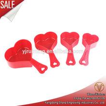 Heart Shape Plastic Measuring Cup