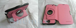Leather 360 Rotating Stand Flip Case Cover for Samsung Galaxy Note2 II N7100