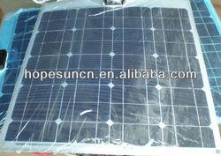 semi flexible solar panel 18v 20W 30W 40W 60W 90W 100W