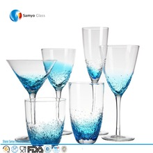 Decorated wine goblets/wine glasses