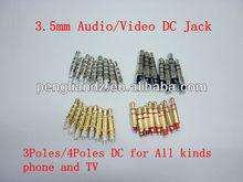 HIgh quality Stereo 3.5mm DC Jack Plug/Stereo Audio Video Mono Jack Plug for HTC/iphone/Samsung
