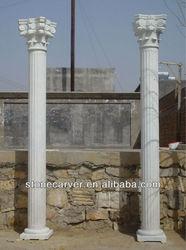White Marble Roman Column