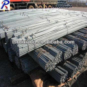 Deformed steel rods for concrete reinforcement