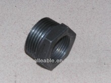 QIAO DIN black malleable cast iron pipe fitting reducing hex bushing
