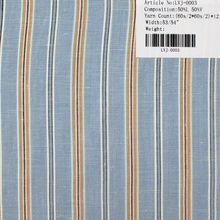 stripe linen and viscose fabric