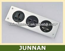 Hotel Socket with RJ45/Data, RJ11/Tel, RCA, USB, VGA, XLR, HDMI etc.