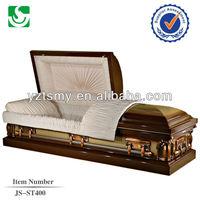 JS-ST400 crepe Interior 18 Gauge Metal casket