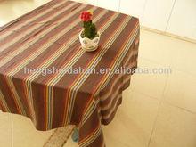 cotton yarn dyed strip table cloth