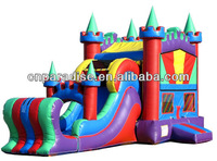 2014 new products inflatable jumping castle with prices, inflatable 4 in 1 bouncy castle slide combo for sale (cc123)