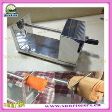 automatic multifunctional user-friendly spiral potato chips cutter/ hand potato chips cutting machine