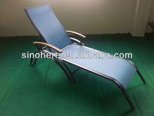 Outdoor Sun Lounge Chaise Lounge Wooden Armrest ER006