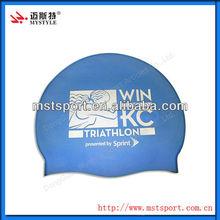 Solid Color Bubble Silicone Swimming Cap