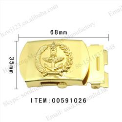 embossed logo military belt buckles