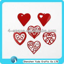 Heart Shape Laser Cut Acrylic Pendant